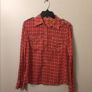 (2839). Tory Burch blouse.  Size 8